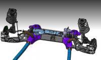 Компьютерная модель передней подвески Лады Веста